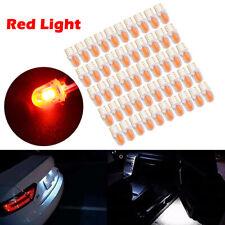 50PCS/Set T10 194 168 W5W COB 4SMD LED Car CANBUS Silica  Red License Light Bulb
