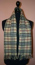 GENUINE BURBERRY VINTAGE CLASSIC SCARF BEIGE NOVA CHECK 50% CASHMERE 50%WOOL