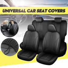 9x Universal Car Auto PU Leather Seat Full Covers Back Head Rest Protector Set