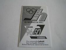 1996/97 QMJHL OLYMPIQUES DE HULL POCKET SCHEDULE**QUEBEC MAJOR JUNIOR HOCKEY**