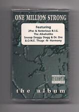 ONE MILLION STRONG - The album SEALED Cassette 2Pac Notorious B.I.G. Dr. Dre