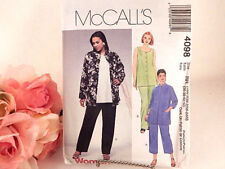 Women's Top Pants Jacket Sewing Pattern Uncut McCall's 4098 Plus Size 18 - 24