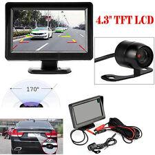 """4.3"""" LCD TFT Car Rear View System Monitor + Backup Reverse Night Vision Camera"""