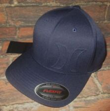 MENS HURLEY NAVY BLUE HAT FLEX FIT FITTED CAP SIZE L/XL