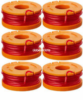 WORX Spools Line WA0010 Replacement 10-Foot Grass Trimmer/Edger Spool 6-Pack