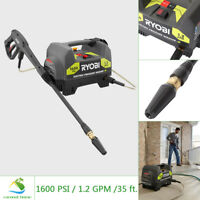 RYOBI Electric Pressure Washer 1600 PSI 1.2 GPM Portable Turbo Nozzle 35 FT Hose