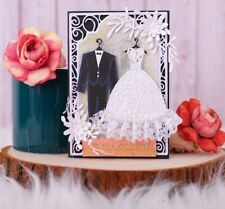Couple Wedding Dies Metal Cutting Scrapbook Decoration stencils free shipping