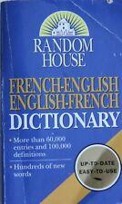 RANDOM HOUSE FRENCH-ENGLISH DICTIONARY