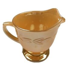 Anchor Hocking Fire King Fire-King Peach Lustre Creamer / Jug 14 Oven Ware 1960s