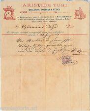 61436 - ITALIA REGNO - STORIA POSTALE : MARCA DA BOLLO su FATTURA - PISA 1873