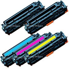 5PK Compatible CC530A 531A 532A 533A Toner Cartridge For LaserJet CM2320 CP2025