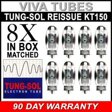 Brand New Tung-Sol KT150 KT-150 Plate Current Matched Octet (8) Vacuum Tubes