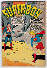 SUPERBOY #80 4.0 1ST SUPERBOY/SUPERGIRL MEETING 1960 OFF-WHITE PAGES