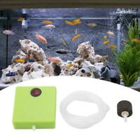 Portable Aquarium Dry Battery Operated Fish Tank Pump Aerator Oxygen + Air Stone