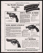 1952 Smith & Wesson .38 Terrier, Military Police Special, 357 Magnum Revolver Ad