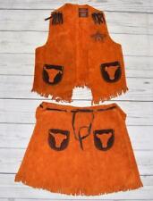 Girls Med 4-6 yrs John R Craighead Authentic Cowgirl Sheriff Costume Skirt Vest