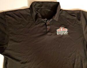 Papa Johns Pizza Men's Polo Uniform Shirt black Size Large