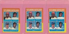 3 Card Lot 1975 Topps Fred Lynn #622 Red Sox Rookie RC EX-MT