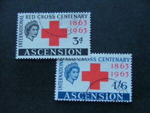 Ascension QEII 1963 Red Cross Issue SG85-86 FU