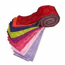 Jelly Roll 24 strips Rainbow Etchings by Stuart Hillard 100% Cotton