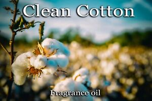 CLEAN COTTON PROFESSIONAL GRADE FRAGRANCE OIL, 50 ML - CANDLES, SOAP, DIFFUSERS.