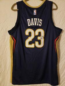Anthony Davis Signed Jersey Pelicans COA 100% AUTHENTIC