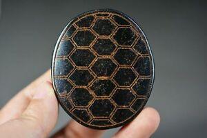 Chinese Old Jade Carved *Longevity Tortoise Shell* Pendant Amulet D14