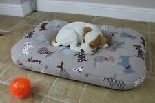 BEAN BAG Bed Soft Warm THERMAL Fleece Dog Pet Cushion Mattress. Washable cover.