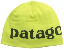 New Patagonia Men's Beanie Hat Logo Belwe Folios Green One Size