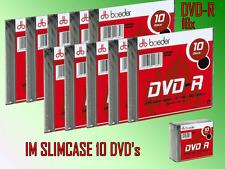 DVD -R 10 Stück im Slimcase 16x Speed 4,7 GB DVD-R Rohlinge