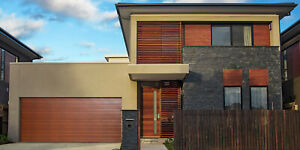 Sectional Panel Lift Garage Door Timber Look Woodgrain 2180(H) x 4880(W) Oz Made