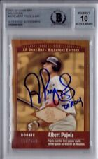 2001 UD SP Game Used Bat Albert PUJOLS Signed ROOKIE RC AUTOGraphed /500 BGS 10!