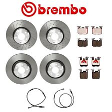 For BMW F30 F23 F22 Front and Rear Disc Brake Rotors Pads and Sensors Brembo Kit