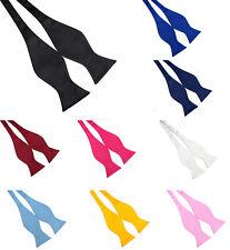 10Color Adjustable Men's Solid Silk Stain Tuexdo Self Tie Bow Tie Necktie Bowtie