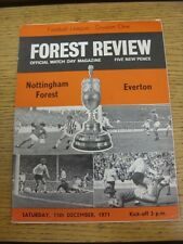 11/12/1971 Nottingham Forest v Everton  (Light Foxing)