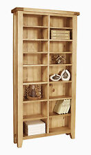 Roma solid oak furniture CD DVD media storage cabinet rack shelves bookcase
