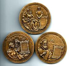 POETS CAMOES MYTHOLOGY Coimbra  1580-1980 Set 3 Medals Matching # 796/1500 M5b