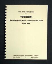 STARK model 9-66 Tube Tester Manual With Tube Test Data