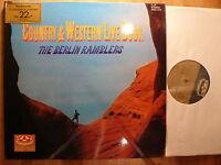 DLP, The Berlin Ramblers, Country & Western Live Book, 1968, M, Topzustand, Rar