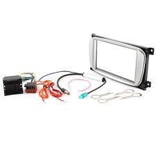 2DIN Radioblende Set FORD Focus Kuga Connect ab 2007 Adapter Kabel, silber