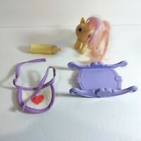 "1984 My Little Pony G1 3.5"" Baby Moondancer Unicorn Figure w/ Accessories MLP"