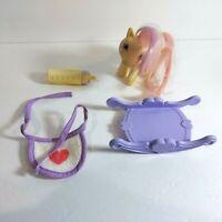 "1984 My Little Pony G1 3.5"" Baby Moondancer Unicorn Figure w/ Accessories MLP"