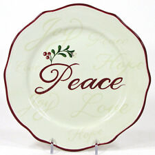"""Better Homes & Gardens HOLIDAY SENTIMENTS PEACE 8.75"""" Plate Heritage Collection"""