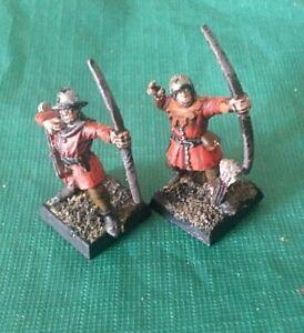 4 painted whfb plastic 90s bretonnian archers