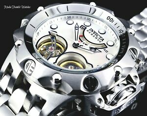 New Invicta Reserve HYBRID Venom Double Automatic Power Reserve All Silver Watch