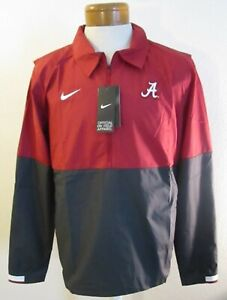 NWT Nike Alabama Crimson Tide Mens 1/2-Zip Lightweight Coaches Jacket L MSRP$80
