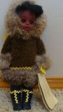 """Vintage INUIT The People ALASKAN ESKIMO DOLL Made 1988 By Carlson Dolls Co, 11""""H"""