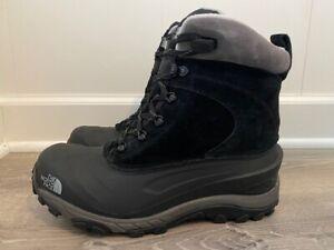 Mens The North Face Chilkat III Boots TNF Black/Dark Gull Gray Waterproof Snow