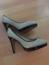 Reiss Satin-like covered Black and White Shoes Size 6 Heels