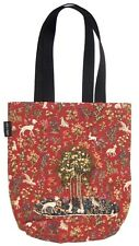 BELGIAN TAPESTRY SHOPPING TOTE BAG 38CM X 34CM, MILANI, TREE WITH ANIMALS
